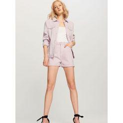 Szorty damskie: Jeansowe szorty – Fioletowy
