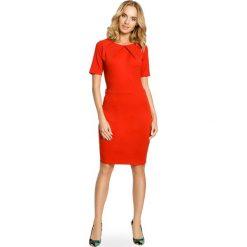 Sukienki: Klasyczna ołówkowa sukienka z dzianiny – czerwona