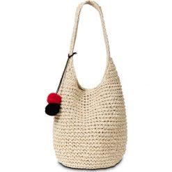 Torba plażowa shopper z kolorowymi pomponami bonprix naturalny. Czarne torby plażowe marki bonprix, w kolorowe wzory, z pomponami. Za 54,99 zł.
