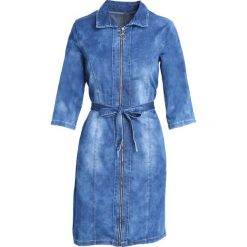 Niebieska Sukienka Natural. Niebieskie sukienki Born2be, z jeansu. Za 89,99 zł.