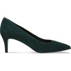 Czółenka RUMI. Zielone buty ślubne damskie Gino Rossi, ze skóry, na szpilce. Za 224,95 zł.