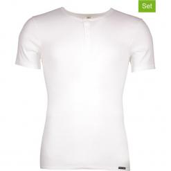 Podkoszulki (3 szt.) w kolorze białym. Białe podkoszulki męskie marki Schöller, m, z bawełny, z krótkim rękawem. W wyprzedaży za 108,95 zł.