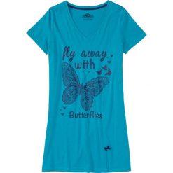 Bielizna nocna: Koszula nocna bonprix ciemnoturkusowy z nadrukiem
