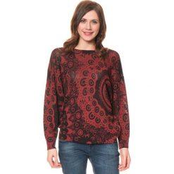 """Odzież damska: Sweter """"Trendy"""" w kolorze bordowo-czarnym"""