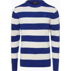G-Star - Sweter męski – Doolin, niebieski. Niebieskie swetry klasyczne męskie marki G-Star, m, z klasycznym kołnierzykiem. Za 449,95 zł.