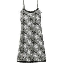 Bielizna nocna: Koszula nocna bonprix szary łupkowy z nadrukiem