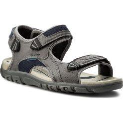 Sandały GEOX - U S.Strada Wf C U6224C 000AF C9M4E  Stone/Blue. Szare sandały męskie skórzane Geox. W wyprzedaży za 259,00 zł.