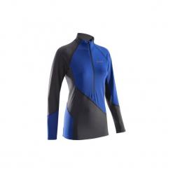 Bluza termiczna damska. Niebieskie bluzy rozpinane damskie SIMOND, xs, z elastanu, z długim rękawem, długie. Za 99,99 zł.