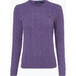 Polo Ralph Lauren - Sweter damski z mieszanki wełny merino i kaszmiru, lila. Szare swetry klasyczne damskie marki Polo Ralph Lauren, s, z kaszmiru, z klasycznym kołnierzykiem. Za 479,95 zł.
