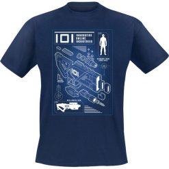 T-shirty męskie z nadrukiem: Ready Player One Rifle Profile T-Shirt granatowy