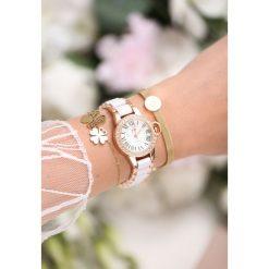 Zegarki damskie: Biało-Złoty Zegarek Chills