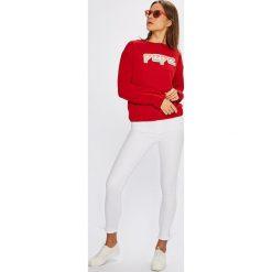 Tommy Hilfiger - Jeansy Como. Szare jeansy damskie rurki marki TOMMY HILFIGER, m, z nadrukiem, z bawełny, casualowe, z okrągłym kołnierzem. W wyprzedaży za 299,90 zł.