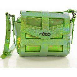 Hologramowa torebka listonoszka jasna zieleń RACHEL. Zielone listonoszki damskie Nobo, w paski, ze skóry ekologicznej. Za 139,00 zł.