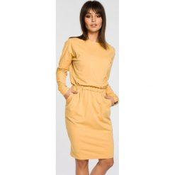 Sukienki: Sukienka z gumką w pasie bee-060