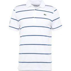 Lacoste Sport RYDER CUP Koszulka sportowa blanc/bleu france. Białe koszulki sportowe męskie Lacoste Sport, m, z elastanu. Za 449,00 zł.