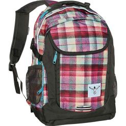 """Torebki i plecaki damskie: Plecak """"Cambridge"""" w kolorze oliwkowo-różowym - 30 x 47 x 15 cm"""