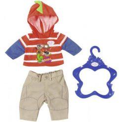 Baby Born Ubranko Chłopięce – Pomarańczowa Bluza. Brązowe bluzy niemowlęce marki Baby Born, z nadrukiem. W wyprzedaży za 40,00 zł.