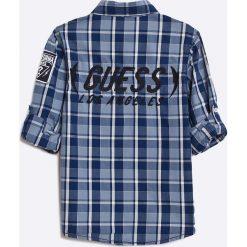 Guess Jeans - Koszula dziecięca 118-166 cm. Szare koszule chłopięce z długim rękawem marki Guess Jeans, l, z aplikacjami, z bawełny. W wyprzedaży za 99,90 zł.