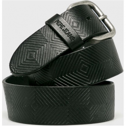 Pepe Jeans - Pasek skórzany. Czarne paski męskie Pepe Jeans, w paski, z jeansu. Za 179,90 zł.