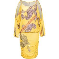Sukienki balowe: Sukienka bonprix żółty wzorzysty