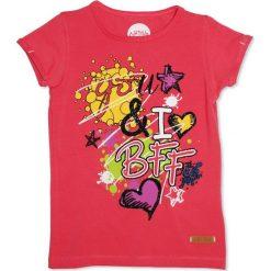 Nativo - Top dziecięcy 104-164 cm. Różowe bluzki dziewczęce marki Nativo, z nadrukiem, z bawełny, z okrągłym kołnierzem. W wyprzedaży za 29,90 zł.