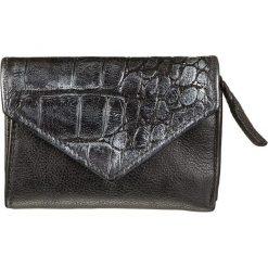 Portfele damskie: Skórzany portfel w kolorze czarnym – 13 x 10 x 2 cm