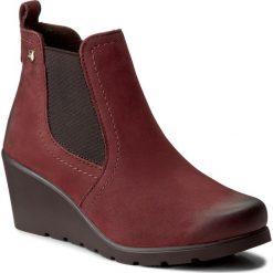 Botki LASOCKI - OCE-1959-01 Bordowy. Czerwone buty zimowe damskie Lasocki, z materiału, na obcasie. Za 179,99 zł.