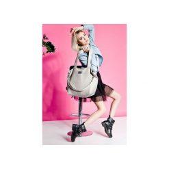 Duża torba szoperka Mili Duo Braid MDb1 - grey. Szare torebki klasyczne damskie Mili-tu, w paski, duże. Za 189,00 zł.