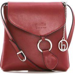 Torebki klasyczne damskie: Skórzana torebka w kolorze czerwonym – 21 x 22 x 4 cm