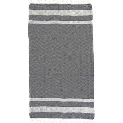 Kąpielówki męskie: Ręcznik w kolorze biało-szarym