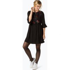 ONLY - Sukienka damska, czarny. Szare sukienki z falbanami marki ONLY, s, z bawełny, z okrągłym kołnierzem. Za 69,95 zł.