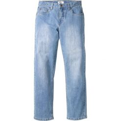 Dżinsy ze stretchem Regular Fit Straight bonprix jasnoniebieski. Czarne jeansy męskie regular marki bonprix. Za 109,99 zł.