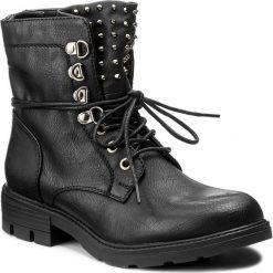 Botki JENNY FAIRY - WS16375-8 Czarny. Czarne buty zimowe damskie marki Jenny Fairy, z materiału, na obcasie. Za 129,99 zł.