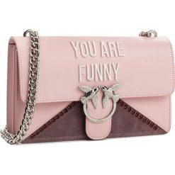 Torebka PINKO - Love Funny PE18 PLTT 1P212W Y4HH Pink P36. Czerwone torebki klasyczne damskie Pinko. W wyprzedaży za 1159,00 zł.
