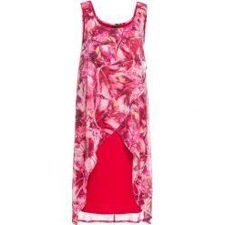 Sukienki: Sukienka z kwiatowym nadrukiem bonprix czerwony z nadrukiem
