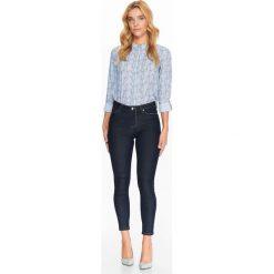 Spodnie damskie: SPODNIE JEANSOWE RURKI