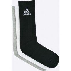 Adidas Performance - Skarpetki (3-pack). Szare skarpetki damskie marki adidas Performance, z bawełny. Za 49,90 zł.