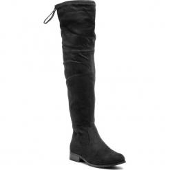 Muszkieterki JENNY FAIRY - WS14323-6 Czarny 2. Czarne buty zimowe damskie marki Jenny Fairy, z materiału, przed kolano, na wysokim obcasie. W wyprzedaży za 119,99 zł.