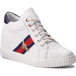 Sneakersy R.POLAŃSKI - 0959 Biały Lico. Czarne sneakersy damskie marki R.Polański, ze skóry, na obcasie. Za 319,00 zł.