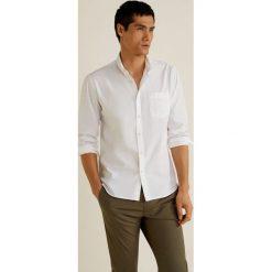 Mango Man - Koszula Romina. Szare koszule męskie na spinki Mango Man, l, z bawełny, button down, z długim rękawem. W wyprzedaży za 89,90 zł.