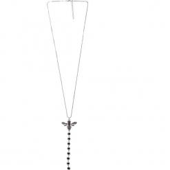 Długi srebrny naszyjnik z owadem QUIOSQUE. Szare naszyjniki damskie marki QUIOSQUE, srebrne. Za 69,99 zł.