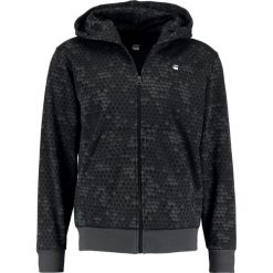 GStar CORE HOC HOODED ZIP SW L/S Bluza rozpinana mdf/raven. Szare bluzy męskie rozpinane marki G-Star, l, z bawełny. Za 469,00 zł.