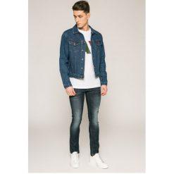 Guess Jeans - Jeansy Miami. Szare jeansy męskie skinny marki Guess Jeans, l, z aplikacjami, z bawełny. W wyprzedaży za 239,90 zł.