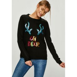 Answear - Sweter. Szare swetry klasyczne damskie ANSWEAR, l, z dzianiny, z okrągłym kołnierzem. Za 99,90 zł.