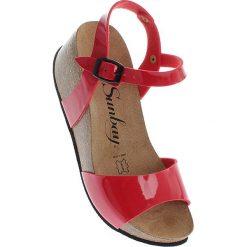 Rzymianki damskie: Sandały w kolorze czerwonym