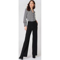 Spodnie z wysokim stanem: MANGO Spodnie palazzo z wysokim stanem – Black