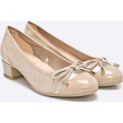 Caprice - Czółenka. Szare buty ślubne damskie Caprice, z gumy, z okrągłym noskiem, na szpilce. W wyprzedaży za 179,90 zł.