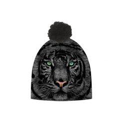 Czapka hauer TIGER BLACK. Czarne czapki zimowe męskie marki Hauer, z nadrukiem, z polaru. Za 69,00 zł.