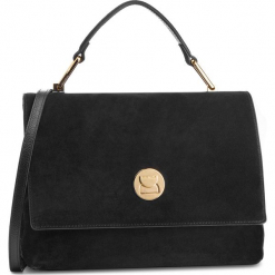 Torebka COCCINELLE - DD1 Liya Suede E1 DD1 18 01 01 Noir/Noir 001. Czarne torebki klasyczne damskie marki Coccinelle, ze skóry, duże, zdobione. Za 1499,90 zł.