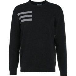 Swetry klasyczne męskie: adidas Golf BLEND CREW Sweter black melange